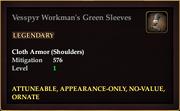 Vesspyr Workman's Green Sleeves