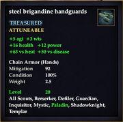Steel brigandine handguards