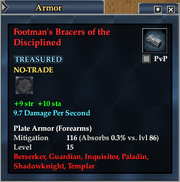 Footman's Bracers of the Disciplined