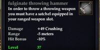 Fulginate throwing hammer