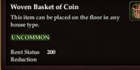 Woven Basket of Coin