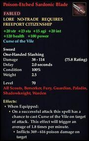 Poison-Etched Sardonic Blade