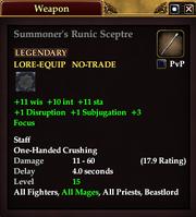 Summoner's Runic Sceptre