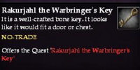 Rakurjahl the Warbringer's Key (Item)