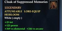 Cloak of Suppressed Memories