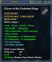 Gloves of the Underfoot Mage