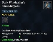 Dark Windcaller's Shoulderpads