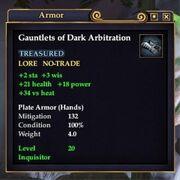 Gauntlets of Dark Arbitration