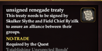 Unsigned renegade treaty