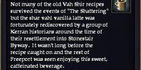 A shar vahl vanilla latte