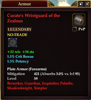 Curate's Wristguard of the Zealous