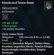 Manifested Terror Boots