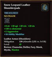 Snow Leopard Leather Shoulderpads