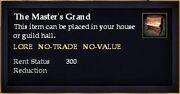 The Master's Grand