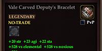 Vale Carved Deputy's Bracelet