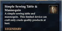 Simple Sewing Table & Mannequin