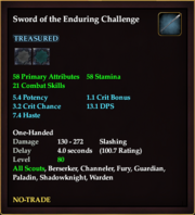 Sword of the Enduring Challenge