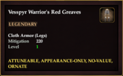 Vesspyr Warrior's Red Greaves