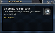An empty Paineel bath