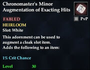 Chronomaster's Minor Augmentation of Exacting Hits