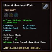 Gloves of Chameleonic Pride