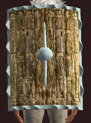 Sandblasted Tower Shield (Equipped)