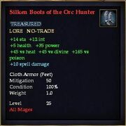 Silken Boots of the Orc Hunter