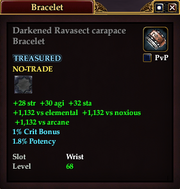 Darkened Ravasect carapace Bracelet