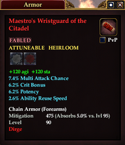 Maestro's Wristguard of the Citadel