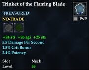 Trinket of the Flaming Blade