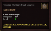 Vesspyr Warrior's Steel Greaves
