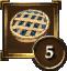 Achievement Icon blue pie 5