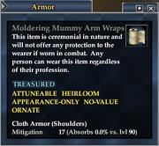 Moldering Mummy Arm Wraps