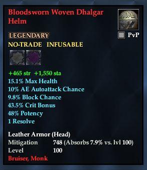 Bloodsworn Woven Dhalgar Helm
