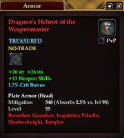 Dragoon's Helmet of the Weaponmaster