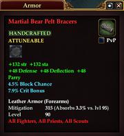 Martial Bear Pelt Bracers