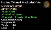 Tailored Machinist's Vest