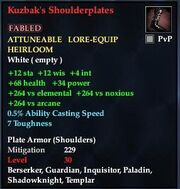 Kuzbak's Shoulderplates