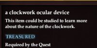 A clockwork occular device