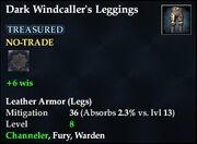 Dark Windcaller's Leggings