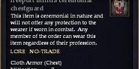 Freeport militia ceremonial chestguard