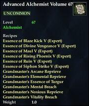 Advanced Alchemist Volume 67