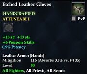 Etched Leather Gloves