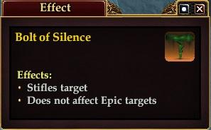 Bolt of Silence