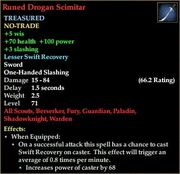 Runed Drogan Scimitar