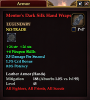 Mentor's Dark Silk Hand Wraps