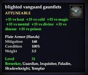 Blighted vanguard gauntlets