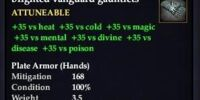 Blighted vanguard gauntlets