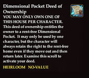 Dimensional pocket deed