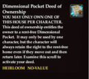 Dimensional Pocket Deed of Ownership